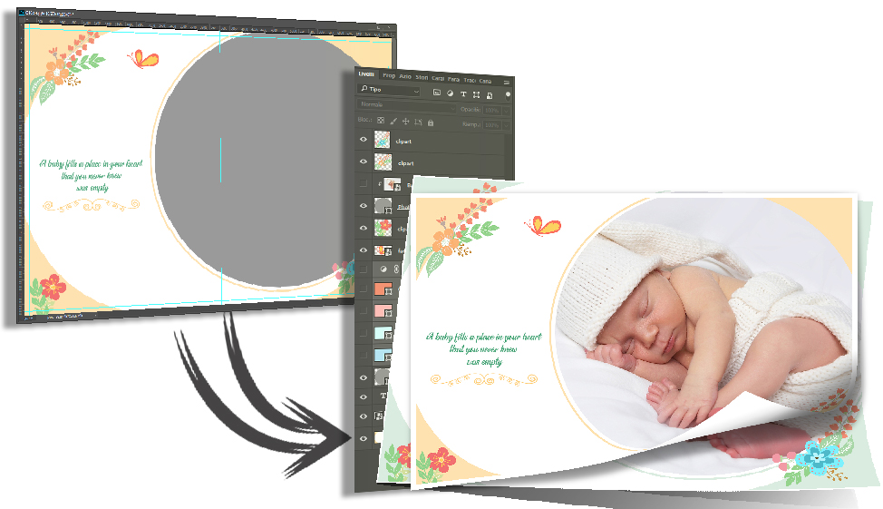 Album Baby psd photoshop