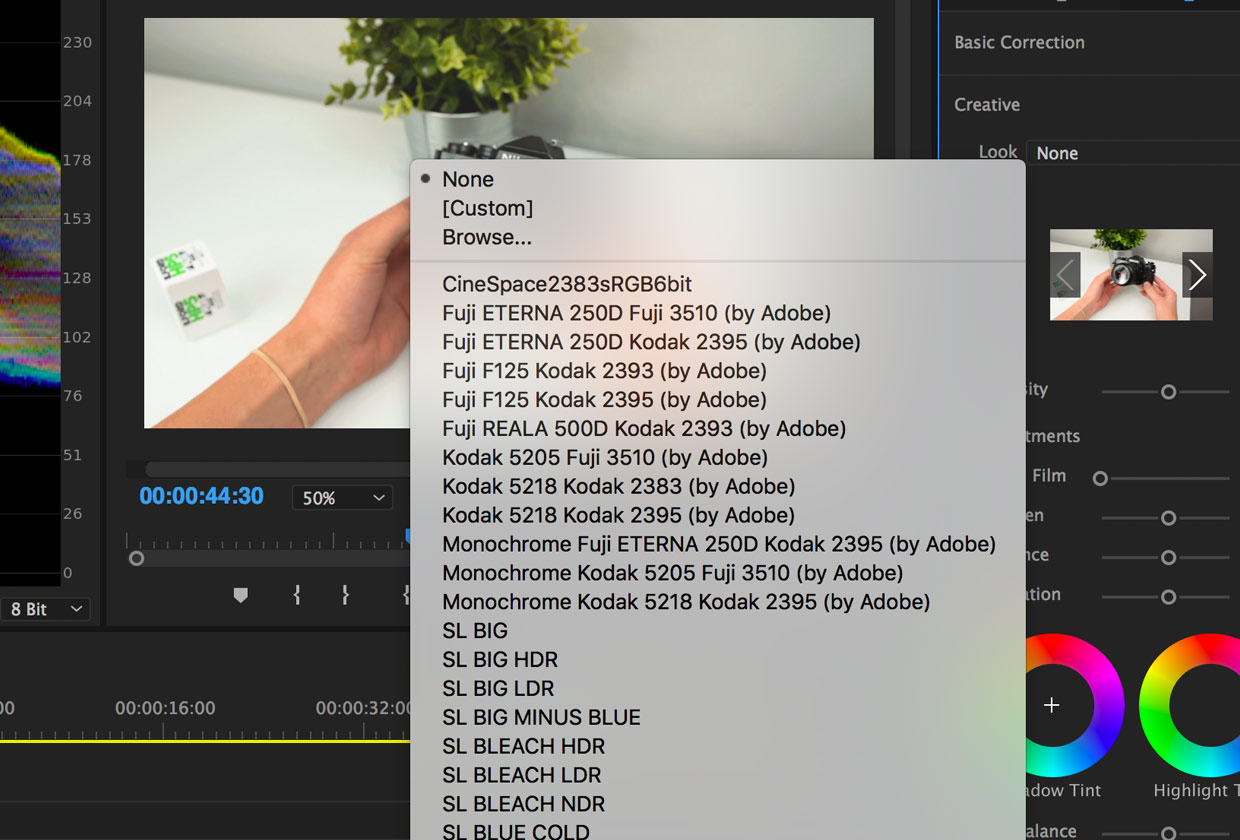 How to install LUTs in Adobe Premier Pro