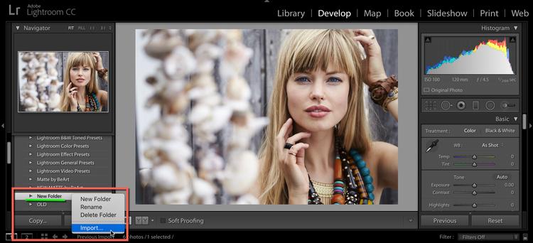 Lightroom - Come installare Preset in Adobe Lightroom in