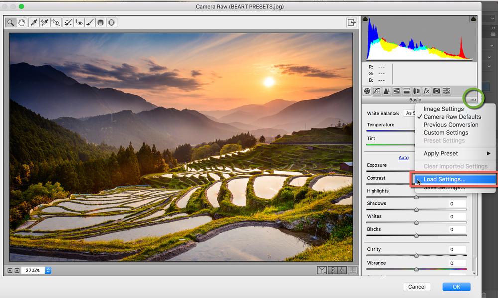 ACR - Come installare Preset in Adobe Camera Raw in Adobe